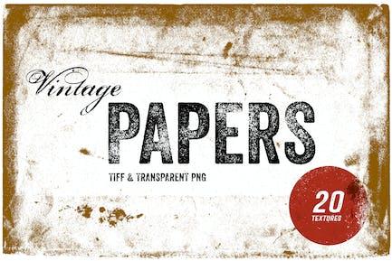 Vintage Papier Texturen - TIFF & PNG