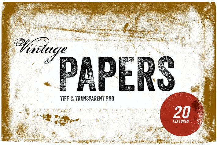 Thumbnail for Vintage Paper Textures - TIFF & PNG