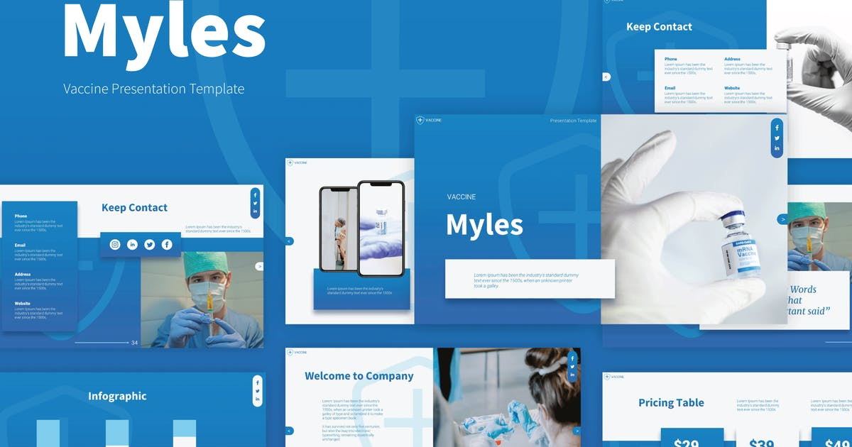 Download Vaccine and Medical Presentation Keynote Template by deTheme
