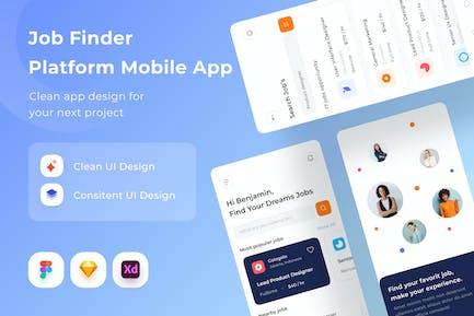 Mobile App der Jobfinder-Plattform