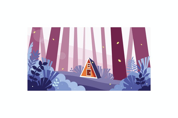 Thumbnail for Beautiful view of a small house in the forest
