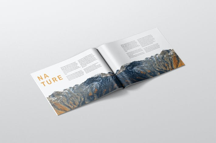 Thumbnail for Magazine Mockup - A4 Landscape