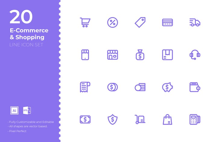 Thumbnail for SRTP- E-commerce & Shopping Icon Set