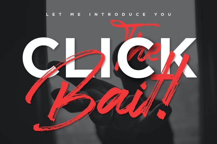 Thumbnail for Clickbait - Brush Logo Font