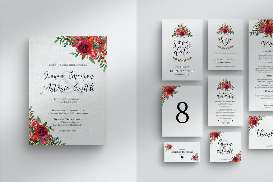 Set d'invitation de mariage