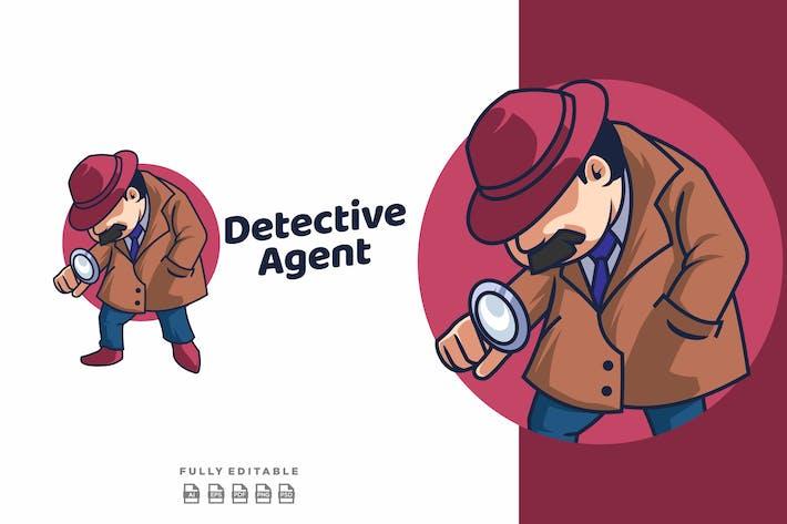 Thumbnail for Detective Agent Mascot Retro