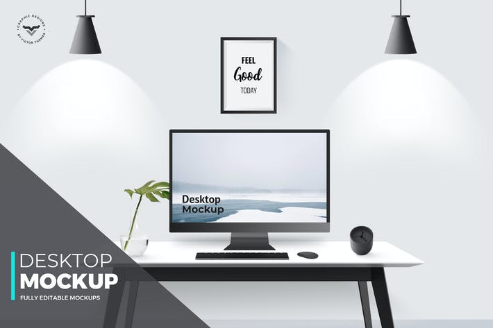 Cover Image For Desktop Mockups with Table