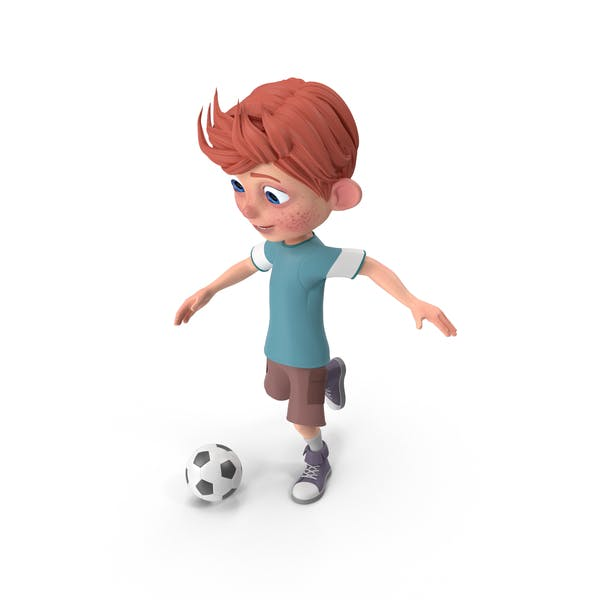 Thumbnail for Cartoon Boy Charlie Playing Soccer