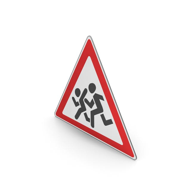 Road Sign Watch For Children