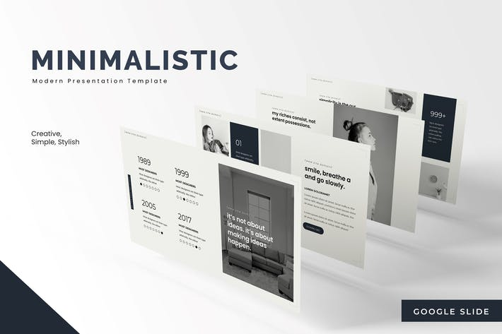 Thumbnail for Minimalistic - Google Slides Template