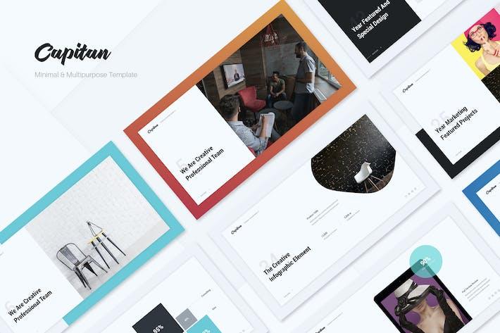 Thumbnail for Capitan Minimal & Creative Presentation Template