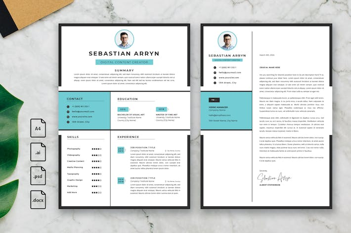 Thumbnail for Professional CV And Resume Template Sebastian