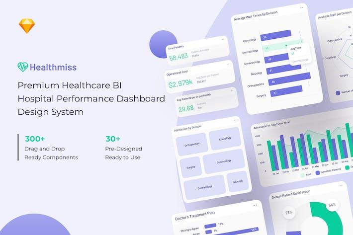 Thumbnail for Healthmiss BI Dasboard Design System