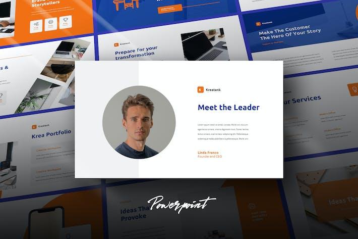 Thumbnail for Kreatank - Шаблон профиля компании Powerpoint