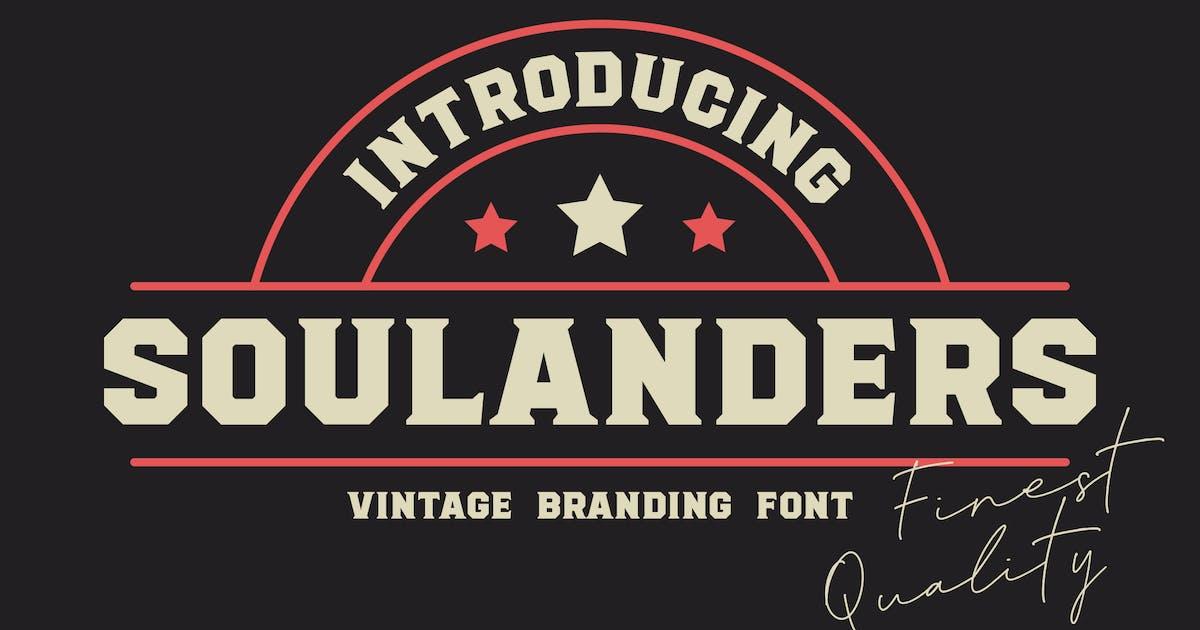 Download Soulanders - Vintage Bold Fonts by konstantinestudio