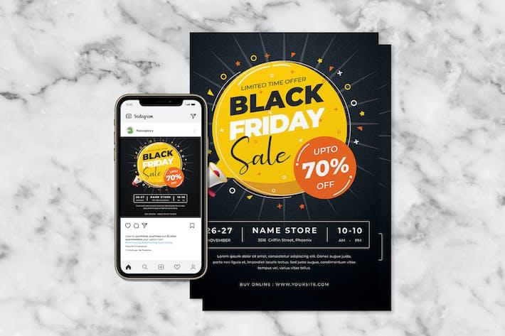 Black Friday Flyer & Instagram Banner Design