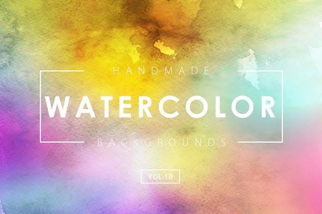 Handmade Watercolor Backgrounds Vol.10