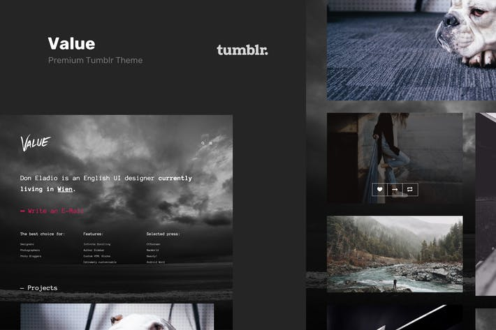 Thumbnail for Value - Portfolio Theme for Tumblr
