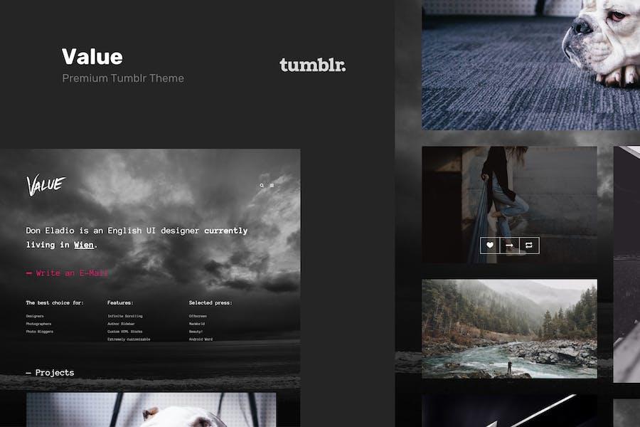 Value - Portfolio Theme for Tumblr