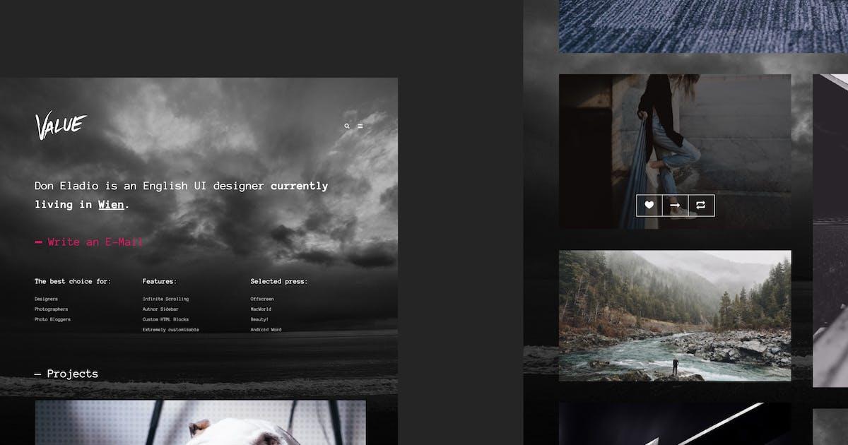 Download Value - Portfolio Theme for Tumblr by roseathemes
