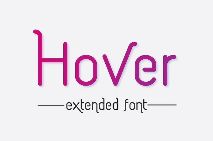 Thumbnail for Hover Extended font