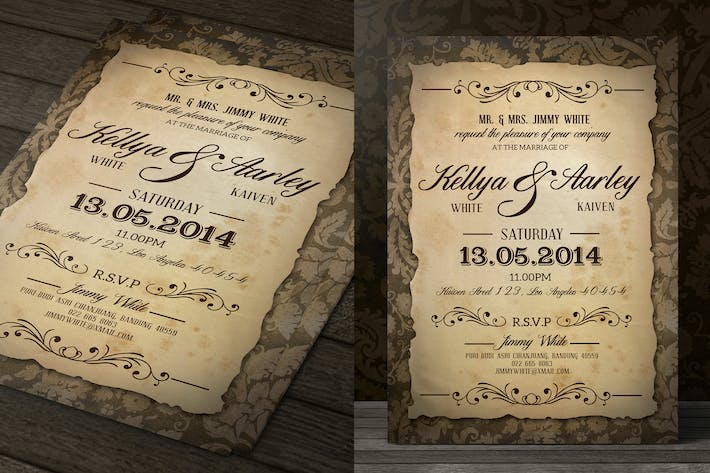 Thumbnail for Vintage Wedding Invitation