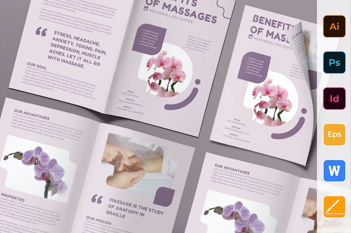 Thumbnail for Massage Brochure Bifold
