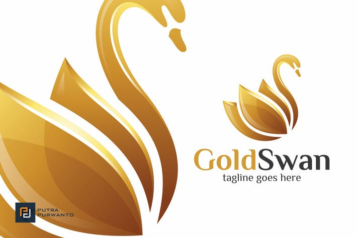 Thumbnail for Gold Swan - Logo Template