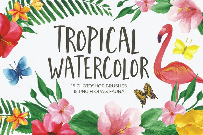 Thumbnail for Watercolor Brushes for Photoshop