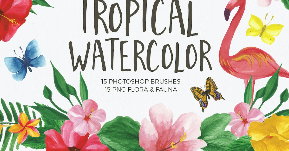 Download Watercolor Brushes for Photoshop by BarcelonaDesignShop