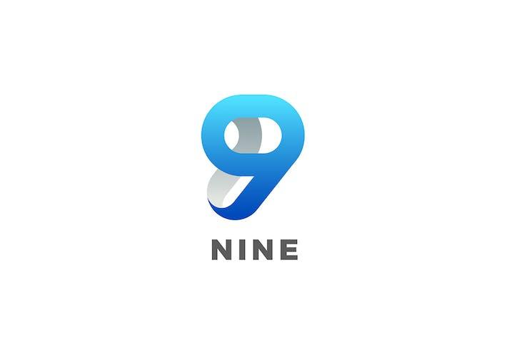 Thumbnail for Numéro 9 Neuf design style ruban 3D