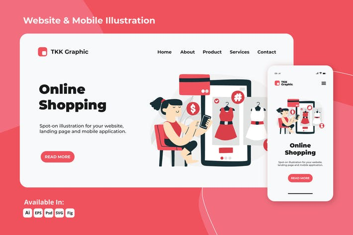 Thumbnail for Online shopping e-commerce web and mobile