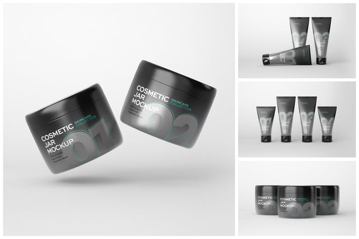 Thumbnail for Kosmetik Mockup Set | Tube und Glas