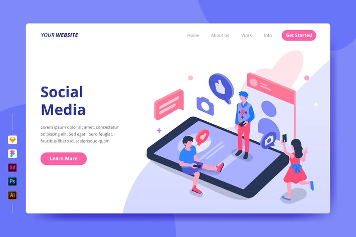 Thumbnail for Social Media - Landing Page