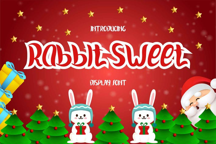 Thumbnail for Rabbit Sweet Display Font