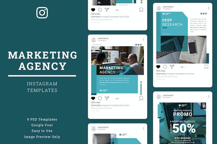 Thumbnail for Marketing Agency Instagram Post Template