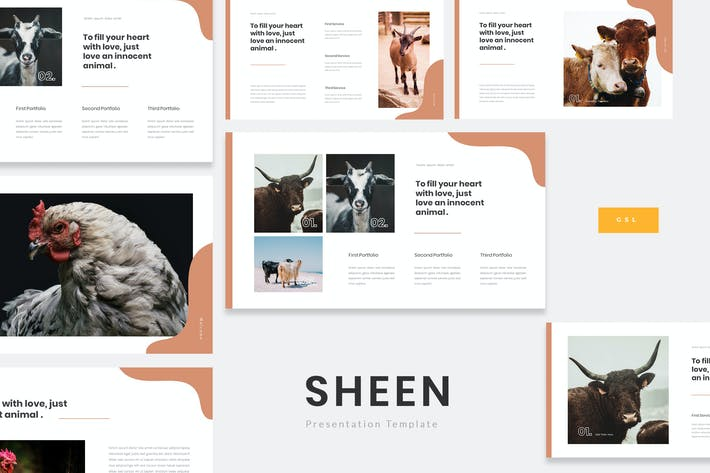 Thumbnail for Sheen - Animal Farm Google Slides Template