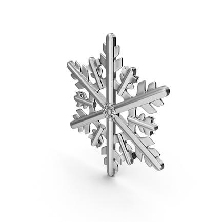 Серебряная снежинка