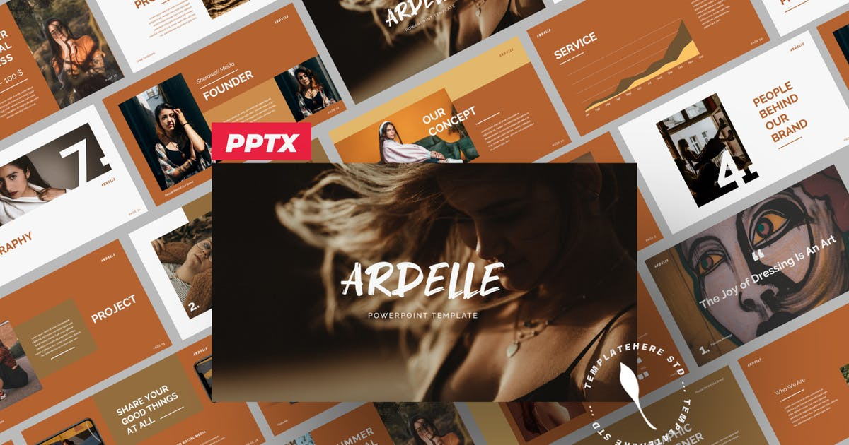 Download Ardelle Brand Business Presentation by templatehere