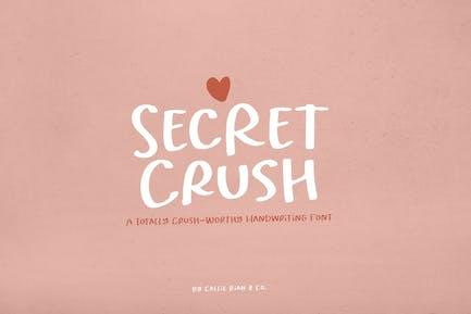 Secret Crush Handwriting Font