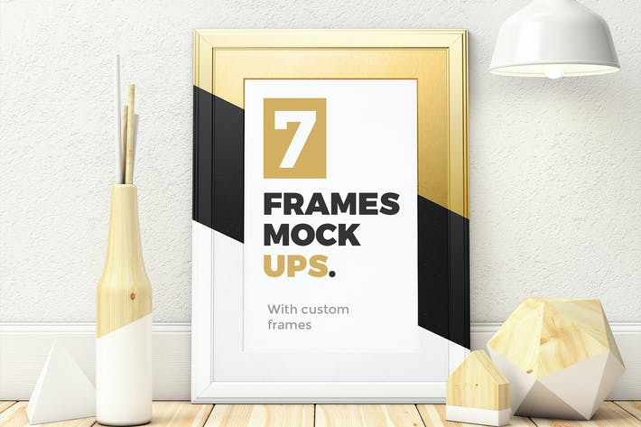 Thumbnail for 7 Frames Mockups with custom frames