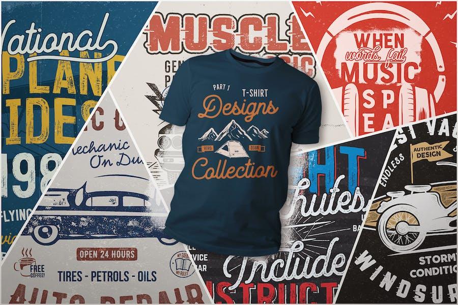 T-shirt Designs Collection. Partie 1