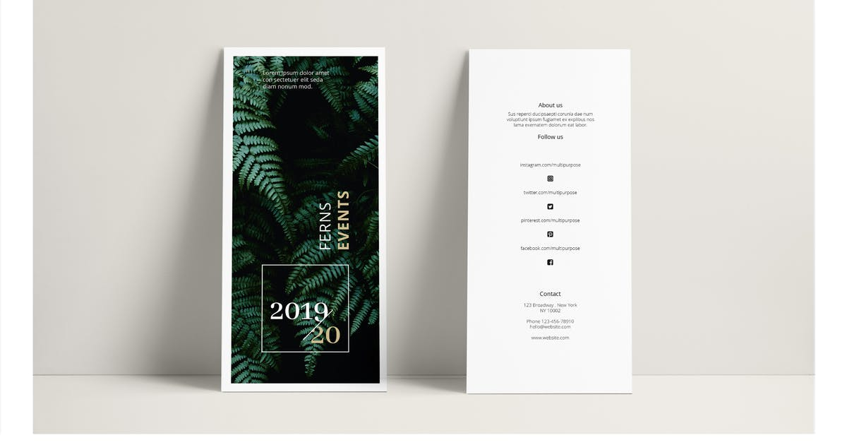 FERNS Trifold Event Flyer by Unknow