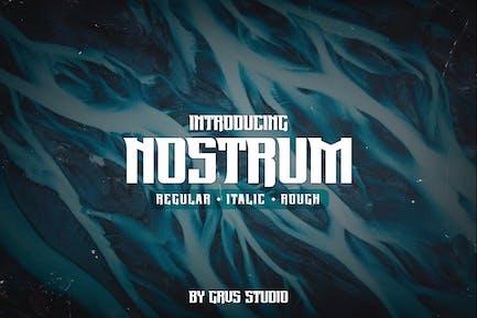 Шрифт Nostrum