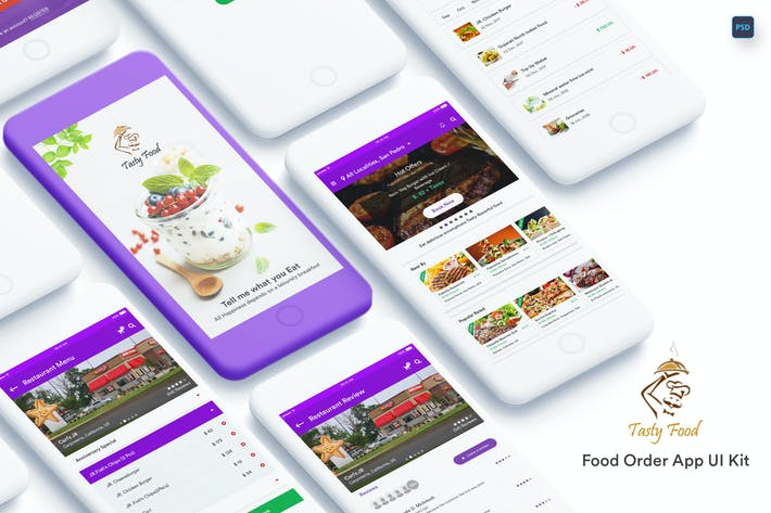 Cover Image For Tasty Food-Online Food Order Mobile App UI Kit