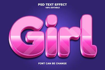 Girl 3d Text Effect