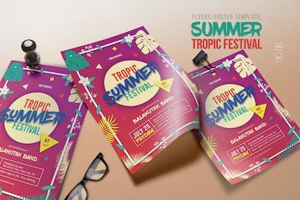 Summer Tropic Festival Flyer