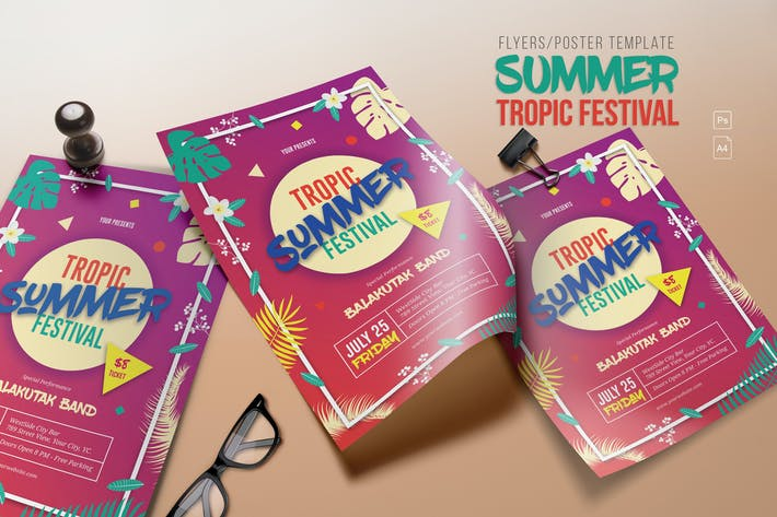 Thumbnail for Summer Tropic Festival Flyer