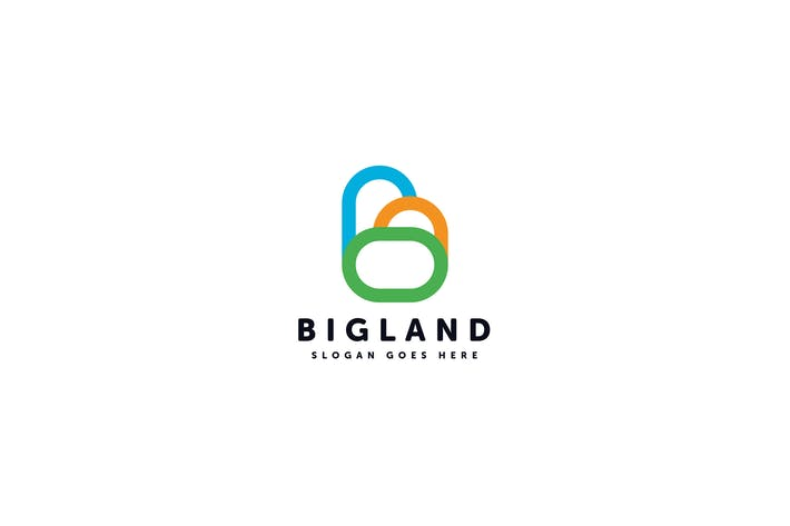 Thumbnail for Big Land Logo Template