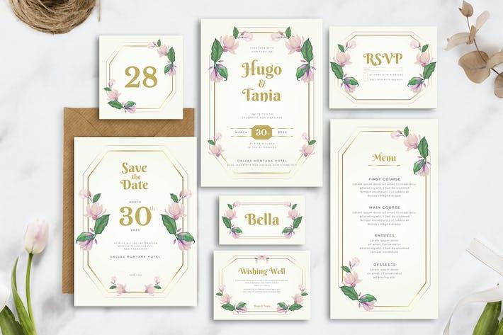 Thumbnail for Rosa Floral - Invitación de boda